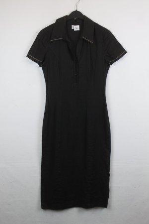 Nienhaus & Lotz Kleid Leinenkleid Kragen Gr. 36 schwarz