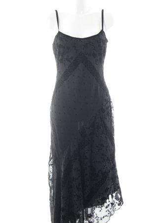 Nienhaus Midikleid schwarz florales Muster Elegant
