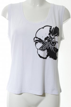 Nienhaus Strappy Top white-black flower pattern casual look