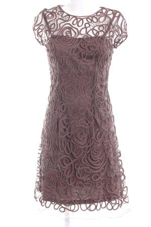 Niente A-Linien Kleid braun Ringelmuster Elegant