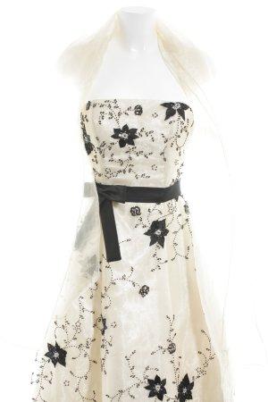 Niente Abendkleid creme-schwarz Elegant