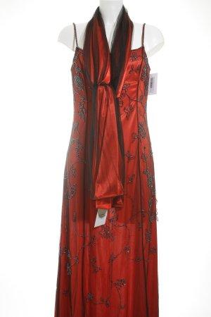 Niente Abendkleid rot-schwarz Elegant
