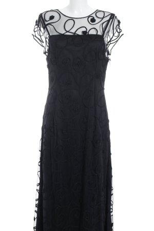 Niente Abendkleid schwarz florales Muster Elegant