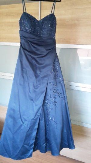 Niente Vestido de baile azul oscuro Poliéster