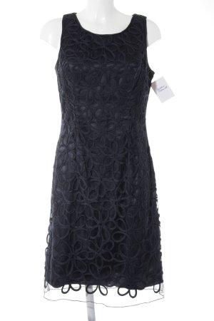Niente Sheath Dress dark blue abstract pattern elegant