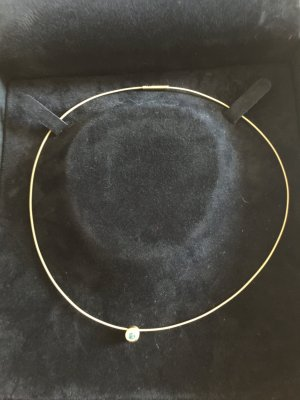 Collana oro-blu fiordaliso Oro