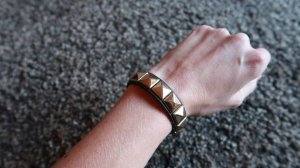 Leather Bracelet black-sand brown imitation leather