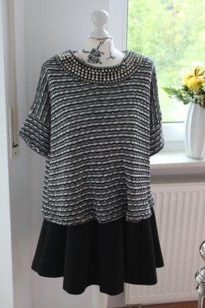 Zara Pull noir-blanc