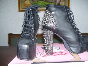 Jeffrey Campbell Platform Booties black leather