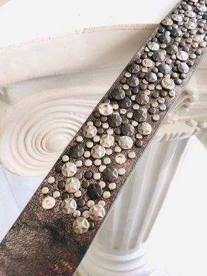 Best emilie Cinturón de pinchos gris oscuro-color bronce
