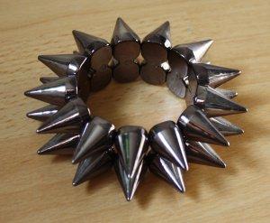 Bijou Brigitte Armband zwart-zilver kunststof