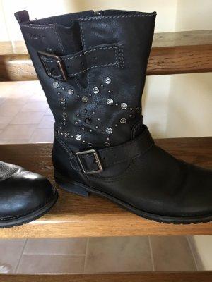 Tamaris Boots black-silver-colored