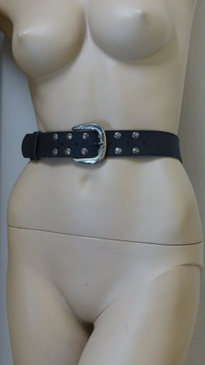 His Studded Belt black-silver-colored imitation leather