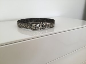 Cowboysbelt Studded Belt black leather