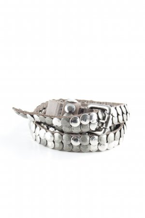 Studded Belt grey-silver-colored casual look