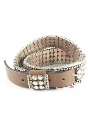 Studded Belt grey brown-silver-colored country style