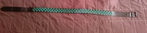 Studded Belt black-green imitation leather