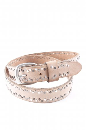 Studded Belt light brown casual look
