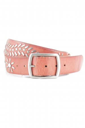 Studded Belt bright red-silver-colored Gypsy style