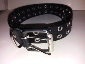 Cinturón de pinchos negro Imitación de cuero