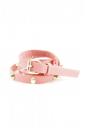 Studded Belt pink-gold-colored casual look