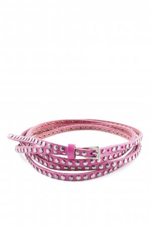 Studded Belt pink-silver-colored casual look