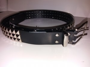 Studded Belt black-anthracite imitation leather