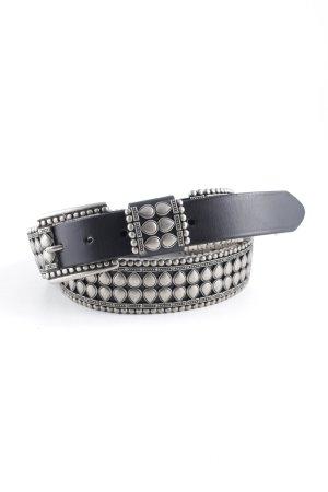 Studded riem zwart-zilver extravagante stijl