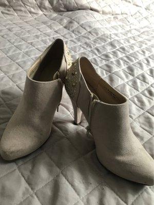 Graceland Chaussure à talons carrés crème-doré