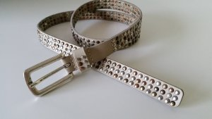 Bernd Götz Leather Belt beige leather