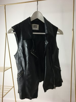 Vero Moda Leather Vest black-silver-colored