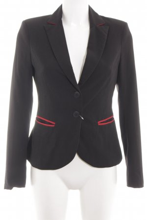 nife Kurz-Blazer schwarz-rot Business-Look