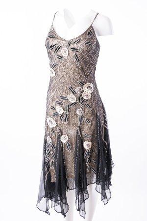 NIGHTSCENE COUTURE - Abendkleid mit Volants und Perlen