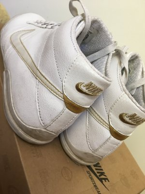 Nike High Top Sneaker white-gold-colored