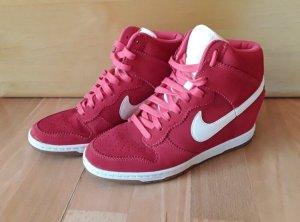 Nike Sneaker con tacco bordeaux-bianco