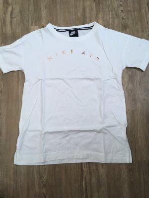Nike T-shirt blanc-or rose