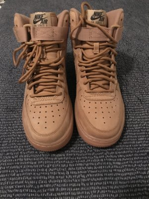 Nike High Top Sneaker sand brown cotton