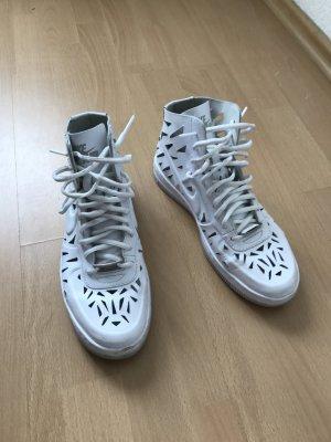Nike Air Force 1 AF1 Cutouts Leder weiß Sneaker Hightop