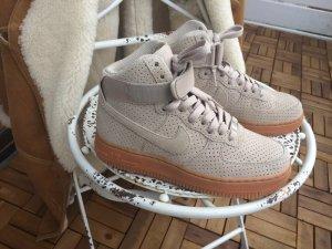 Nike Air Force 1 high suede gum sole Original Eur 36 - Us 5.5 Neu VB ( jordan )