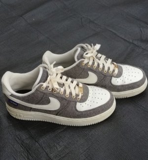 Nike Air Force 1 Low| 40 | Nike ID| grau/weiß/gold