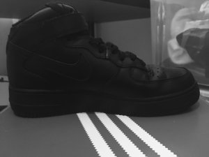 Nike Air Force 1, mid, 39, schwarz