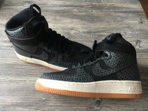 Nike Air Force 1- Sneaker -  Größe 36 - hoch - schwarz - Leder - Schlangemuster - neu