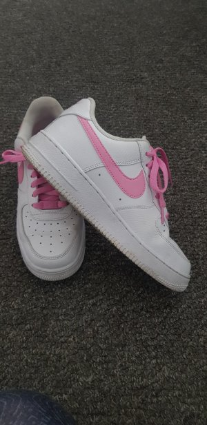 nike air force 1 sneaker schuhe weiß pink