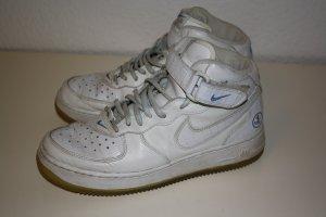 Nike Sneaker alta bianco-azzurro Pelle