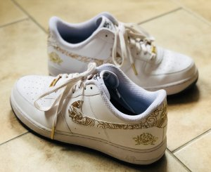 Nike Lace-Up Sneaker white-gold-colored