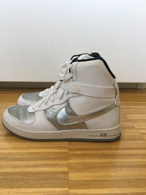 NIKE Air high top Sneaker weiß/silber