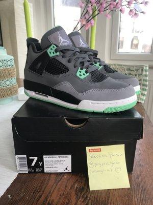 "Nike Air Jordan 4 Retro ""Green Glow"" US 7 / 40 NEUwertig & OVP"
