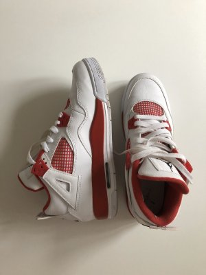 Nike High Top Sneaker white-red
