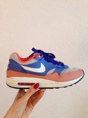 Nike Air Max 1, Sneaker, blau orange, Gr.40
