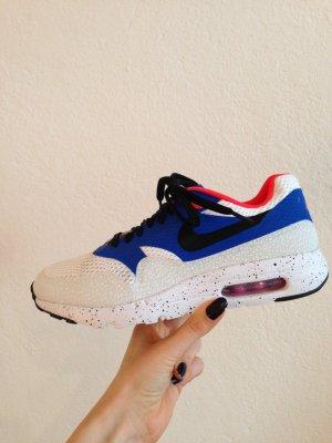 Nike Air Max 1 - Ultra Essential, weiß blau rot, Größe 40,5; neuwertig